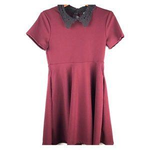 Hot Topic burgundy Skater Dress Halloween